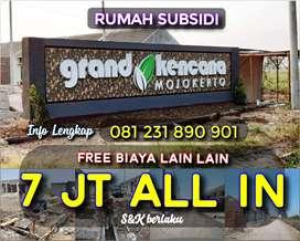 Promo Rumah Subsidi 7 jt All in