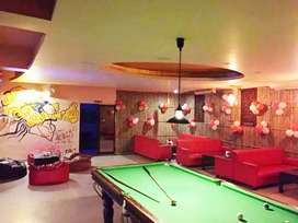 Brilliantly furnished sports lounge and cafe with Shisha on BT Road