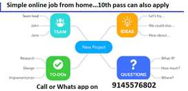 Hello.. Everybody. are u searching part time job. here are simple work