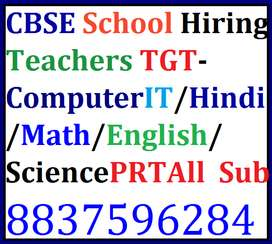 Kharar CBSE School Hiring Teacers TGT-ComputerIT/Hindi/Math/English/S