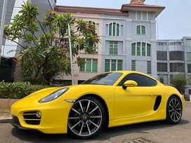 Porsche Cayman 2.7 PDK 981 Coupe 2014 Yellow Bright Km9000 Full Option