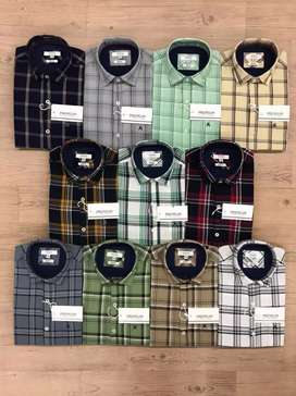 Premium French check shirts available for wholesale