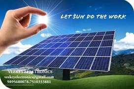 Solar panels , Inverters, Batteries