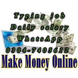 Home based typing job opportunity for students on daily work. 45778