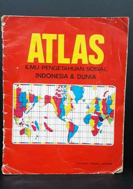PETA ATLAS Ilmu Pengetahuan Sosial (Indonesia & Dunia)