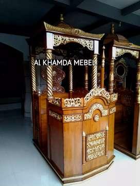 Terima Pesanan Mimbar Masjid Material Kayu Jati Berkualitas B47