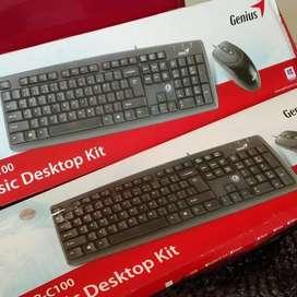 Keyboard Genius C100 Pc Desktop Kit Key Board