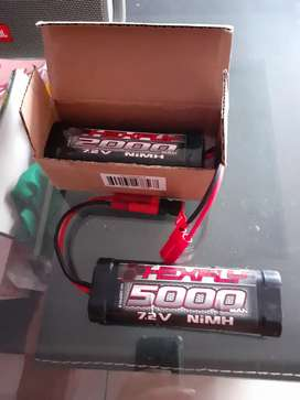 Batre rc hexfly banana plug 5000 & 2000mah + charger hexfly