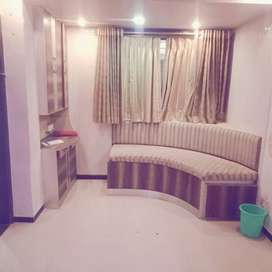 1bhk well furnished flat available on rent in 10k In  Dombivali west.