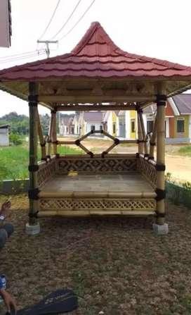 TUkang saung bambu dan Saung gazebo permeter