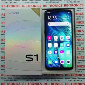 Vivo S1 Color Black 4GB And 128 GB Under Warranty with Bill and Box)
