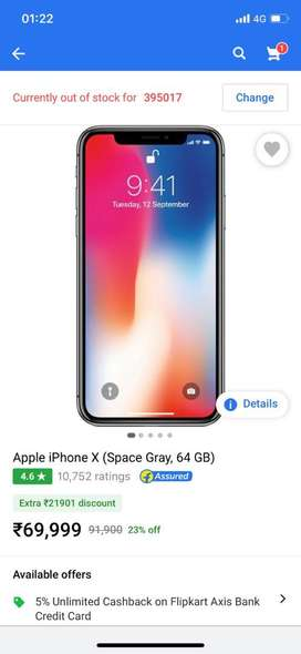 Iphone X Space Grey 64gb