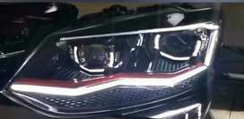 Polo vento ameo new design led headlights European design multi matrix