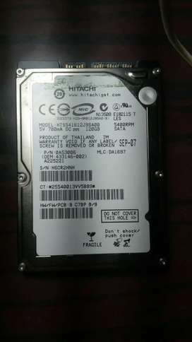 120 GB hard-disk win 7 os installed at op condition used only 2 months