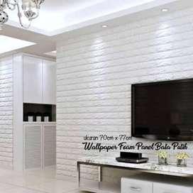 Wallpaper BigFoam 3D Bata Putih