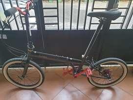 Sepeda Lipat fnhon Storm Black Glossy 11 speed SLX