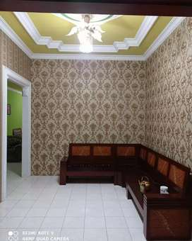 Wallpaper dinding nuansa elegan minimalis