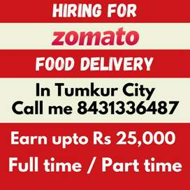 Hiring for food delivery job in Tumkur