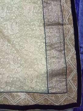 Golden designer saree