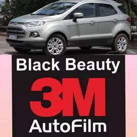 Pasang kaca film 3 M Black beauty original garansi card