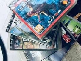 PS3 with 6 disc and 2con