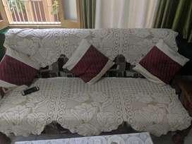Premium Sagwan Wood 5 Seater Sofa Set