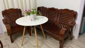 Imported wooden sofa set ( 2 set x 35,000rs)