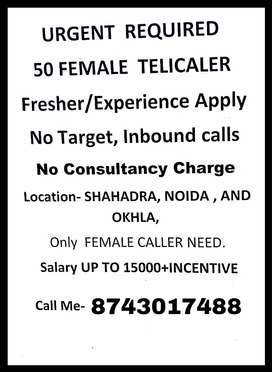 Urgent Required 50 Female Telecaller