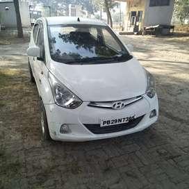 good condition petrol/LPG Hyundai eon Car in white colour