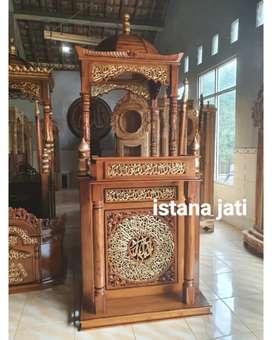 Mimbar Masjid Bahan Mimbar Jati