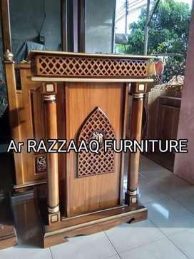Mimbar kayu jati Ar Razzaq -0242