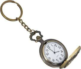 Antique Keychain Round Shape Watch Clock Key Chain Classical Unique An