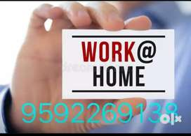 Offering part time work from home based