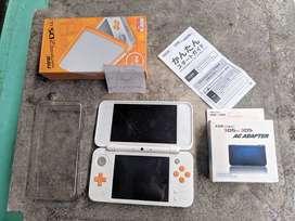New Nintendo 2DS LL XL Orange 32GB Fullset Plus Case not 3DS
