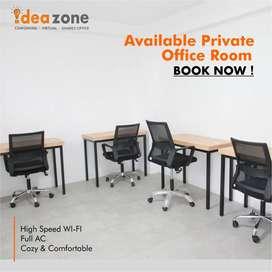Private Office Disewakan Bulanan dan Siap pakai free Listrik Air