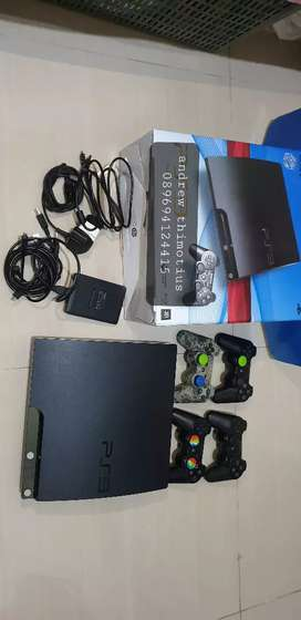 PS3 SLIM Sony GEN 2 ext HDD 1 TB internal 120gb MULUS LENGKAP