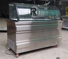 Cold or Hot Bain-Marie Salad Bar Display chiller