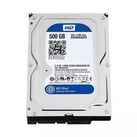 500 gb Hard disk and hard drivesfor rs 1100 with one month warranty
