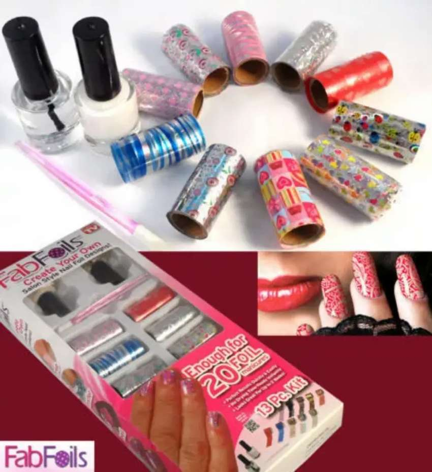 Fab Foil Nail Art Stamping 13 PC's kit pack of 2 0