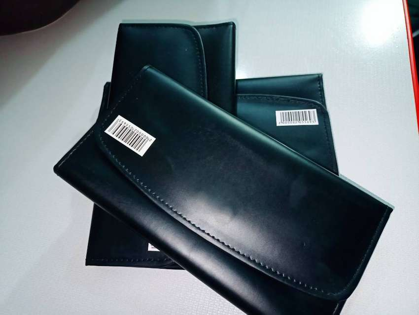 Black long wallets for men and woman 0