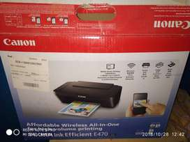 Brand new Canon Pixma E470 All-in-One Inkjet Printer (Black). with all
