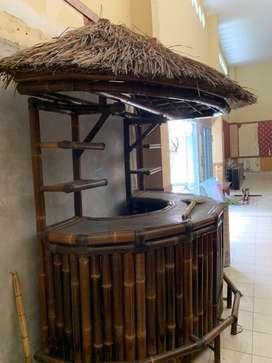Rumah bambu warung display toko bale gerobak dagang jualan dekorasi