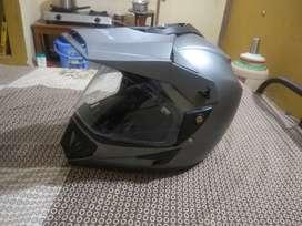 Vega helmet. Matt silver. Finish