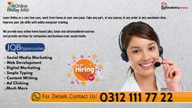 Online work from home and easy earning