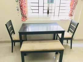 4- Seater Teak wood Dining table