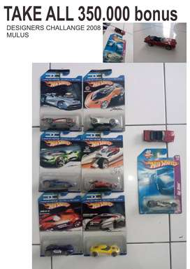 Hot Wheels tahun 2008 designer challange 6 pcs+ 1 pcs bonus