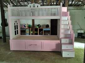 Tempat tidur bahan jati berkualitas