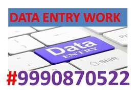 Genuine Part time ONLINE/OFFLINE Home based Data entry job