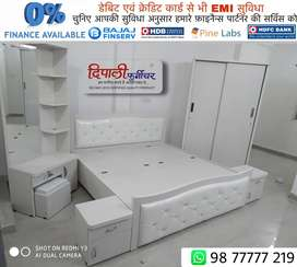 """FULL WHITE BEDROOM SET WITH SLIDING WARDROBE"""