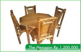 Meja Makan - The Hexagon